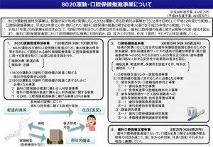 8020運動・口腔保健推進事業について